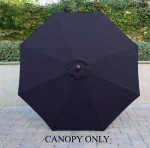 9ft Umbrella Replacement Canopy 8 Ribs In Dark Navy Only