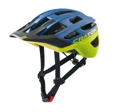 Cratoni Fahrradhelm AllRace (MTB) Gr. S/M (52-57cm) blau/gelb matt