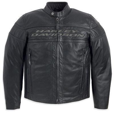 Harley Davidson Uomo per Gare Sportive III 3 Giacca di pelle M XL 2XL Xlt