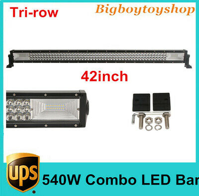 "42""in 540W Tri-row Straight LED Light Bar Work Combo fits JEEP Truck UTE VS 240W"