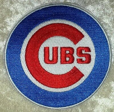 Chicago Cubs  Big 3 5  Iron On Embroidered Patch  Free Ship
