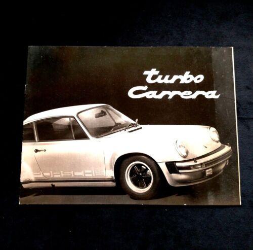 1975 PORSCHE 930 Turbo Carrera Factory Sales Brochure 911 3.0L