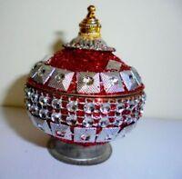 Red Christmas Decorative Trinket Box Sindoor Tika Hindu Puja Home Decor India -  - ebay.co.uk