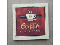 Coffee canvas red