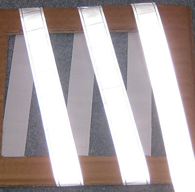 Silver Gloss Sew On Reflective Tape Pvc 3x1