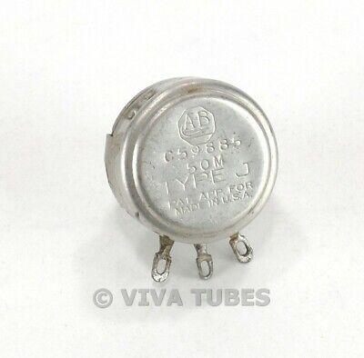Vintage Allen-bradley C59885 Type J Potentiometer 50 Meg Ohm
