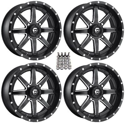 "Fuel Maverick UTV Wheels Black 16"" Can-Am Commander Maverick (4)"