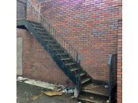 Metal fire escape/staircase
