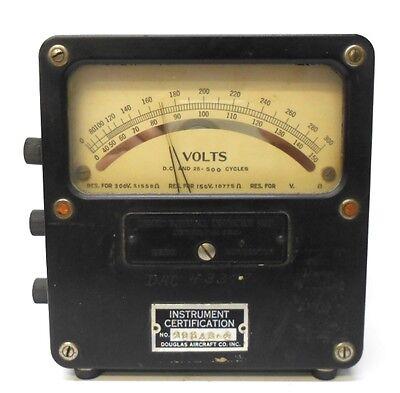 Weston Volt Meter Dc 25-500 Cycles 0-300 0-150 Model 455 2254