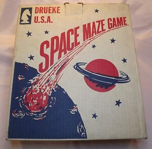 Vintage Space Maze Game by Drueke USA In Orignal Box.