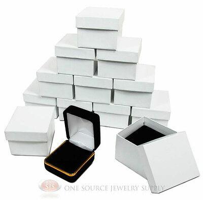 12 Piece Black Velvet Ring Jewelry Gift Boxes Gold Trim 1 78 X 2 18 X 1 12