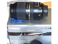 TAMRON SP AF 70-300MM F/4-5.6 DI VC USD LENS FOR NIKON FX CAMERAS