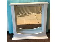 Beautiful White Shabby Chic Dressing Table / Wall Mountable Bedroom Mirror
