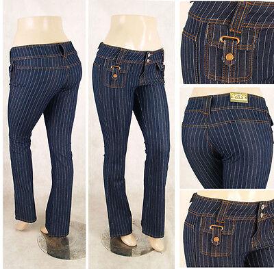 NWT Ladies boot leg jeans stripe denim western look free shipping - Ladies Western Jeans