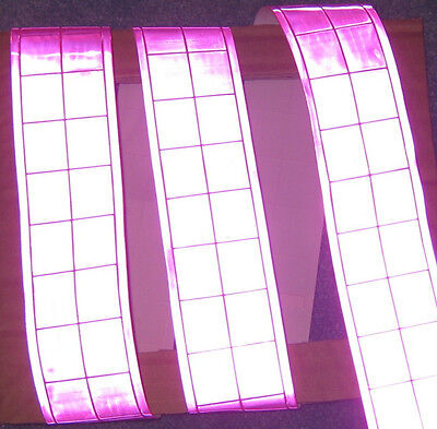 Pink Gloss Reflective Tape Pvc Sew On Material 3x2