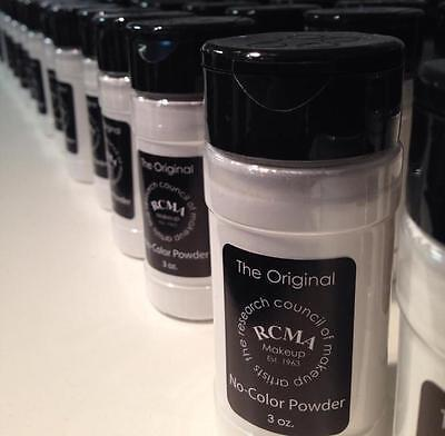 RCMA No-Color Powder 3oz - Face Cosmetic Loose Powder, Shaker Top Bottle, Sealed