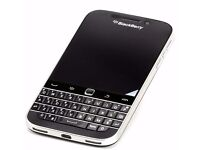 BLACKBERRY CLASSIC Q20 UNLOCKED 16 GB BLACK SILVER MINT CONDITION ONLY £80