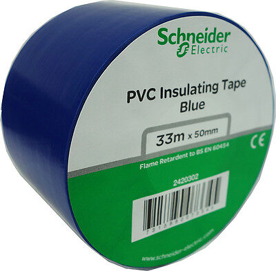 "1 Roll 2""x 36y Insulated Electrical Vinyl PVC Sealing Tape Flame Retardant Blue  Blue Vinyl Electrical Tape"