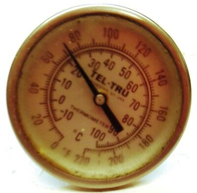 Tell-thru Sight Level Gauge Thermometer 0-220 Degree F -10 To 100 Degree C