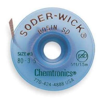 Chemtronics 80-3-5 Soder-wick Rosin Sd Desoldering Braid