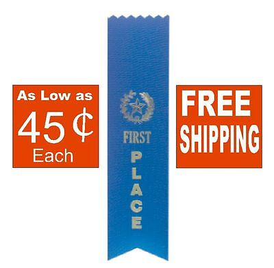 1st FIRST PLACE BLUE AWARD RIBBON (YOU CHOOSE AMOUNT) School SPORTS Contest - Blue Ribbon Award