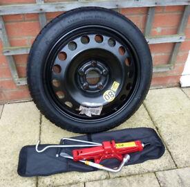 Vauxhall Meriva spare wheel, tyre and jack