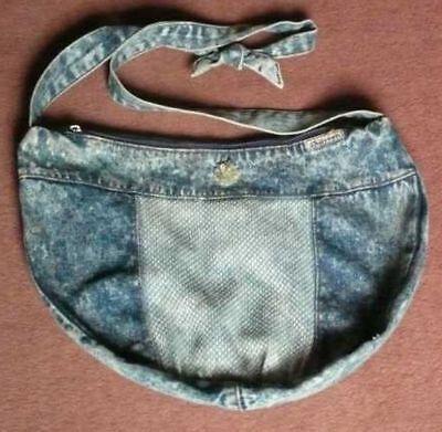 006 L )  Jeans Tasche Umhängetasche Blau mit Reißverschluss ()