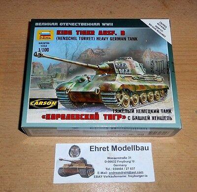 WWII german Sd.Kfz.182 King Tiger Henschel 1:100 Zvezda 6204 Neu