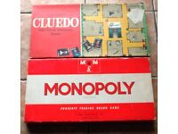 Vintage Monopoly and Cluedo Board games