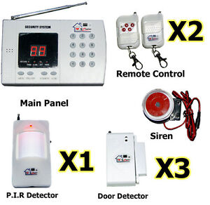 NEW Wireless 99zone Autodial Home Security Alarm System With Auto Dialing 03