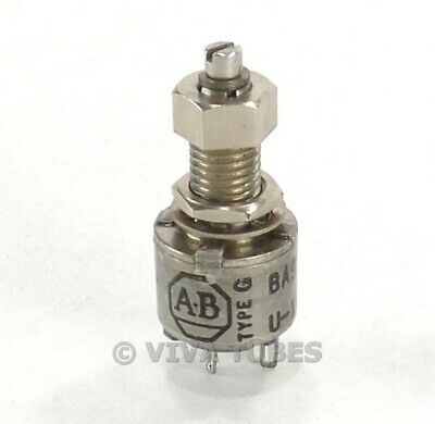 Vintage Allen-bradley Ba99380-17 Type G Miniature Potentiometer 100 Ohm