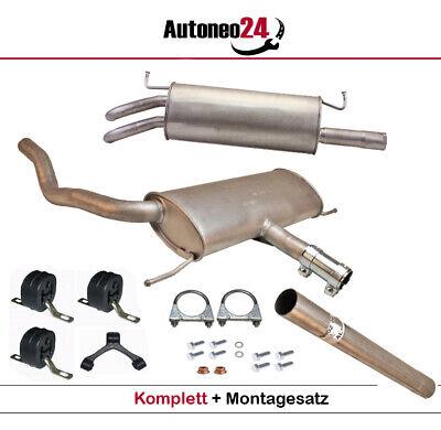 Auspuff Komplett Mitttel und End Seat Leon 1.9TDI Turbo Diesel NEU Montageware