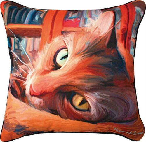 KITTY...YELLOW CAT PILLOW