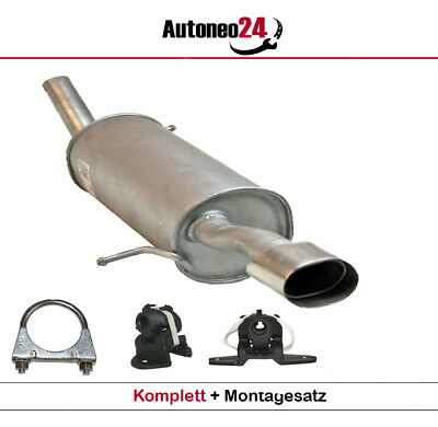 Anbausatz Endschalldämpfer Auspuff für Peugeot 207 1.4i 16V 90PS ab 2006