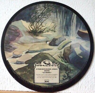 Colette Giraud-Chambeau Piano Chopin Études Picture-Disc 78RPM Saturne 513
