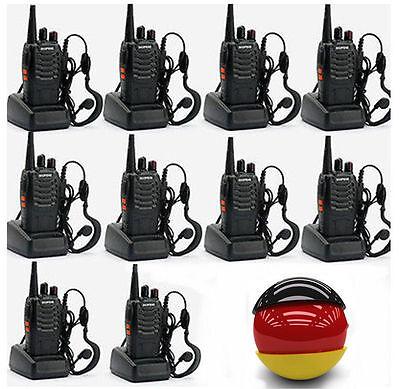 DHL 10* Baofeng BF-888S UHF CTCSS/CDCSS Hand-Funkgerät Radio Walkie-Talkie