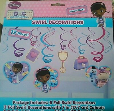 Disney Doc McStuffins 12pc Swirl Room Decorations Birthday Party Favor Supplies