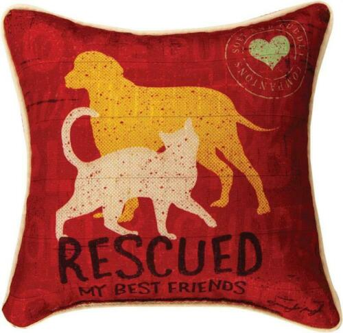 "RESCUED ""BEST FRIEND"" PILLOW"