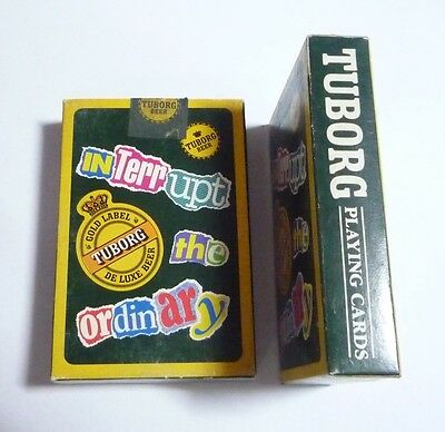 MALAYSIA Playing Cards TUBORG Beer INTERRUPT THE ORDINARY Carlsberg 1995 RARE