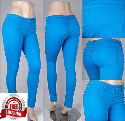 NWT Missy/Junior Stretch Color Jeans Pants Uniform Free shipping SG14214/14297 Spandex Stretch Uniform