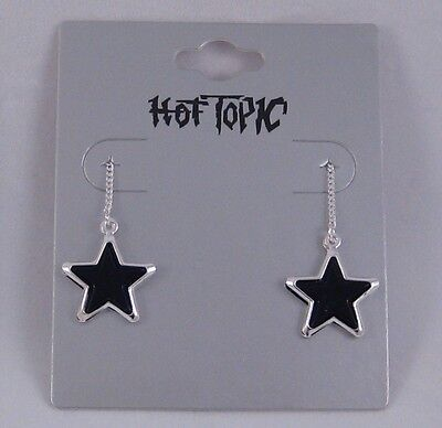 "12 PAIR 6"" STAR THREADER EARRINGS BY HOT TOPIC #E1049"