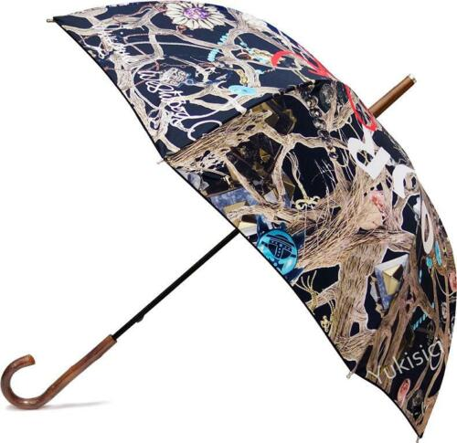 Vivienne Westwood Japan Save Our Ocean Ladies Manual Open Umbrella-Black-NWT