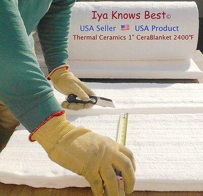 Ceramic Fiber Insulation Blanket 2400f Cerablanket 8 Thermal Ceramic 1x6x12