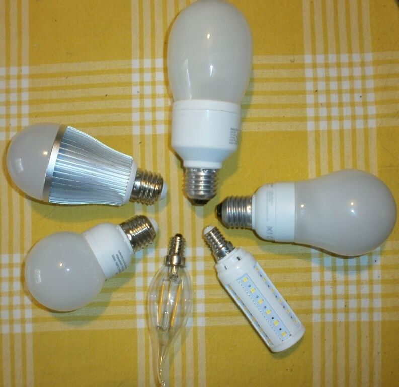 LED-Lampen mit E27 und E14 Sockel