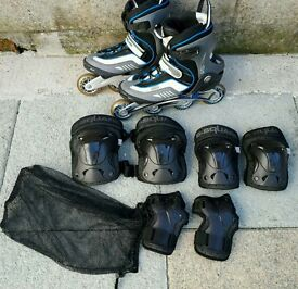B-Square RollerBlades And Pads Set Size 45 (UK 12)