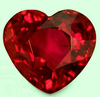 1.5 ct Ruby Heart New Vintage Genuine Corundum Swiss Made Synthetic Ruby