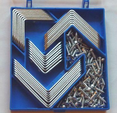 1 / 2 / 5 Boxen jeweils a 32 St. Sortiment Möbelwinkel Winkelverbinder + 112 Sch