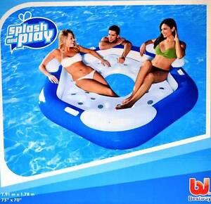 New Bestway Pool Lake  Inflatable 3P Floating Island Lounge 191*178cm (#43111)