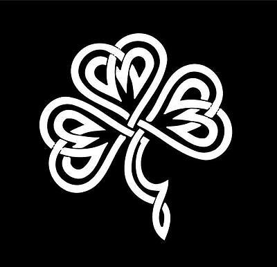 "Celtic Irish Shamrock Heart Love Car Auto Vinyl Decal Sticker Graphic 4.6""X5"""