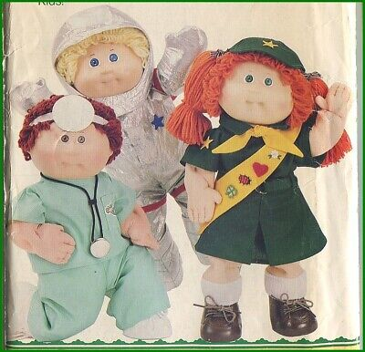 1980s Vintage Girl Scout Doctor Astronaut Cabbage Patch Doll Sewing Pattern for sale  Glendale